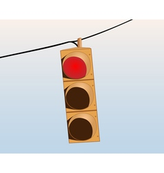 Traffic lights on the wire vector