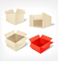 Cardboards set vector