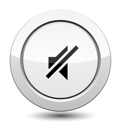 Button with sound off vector