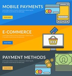 Flat design concept for mobile payments e-commerce vector