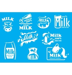 Dairy and milk produsts or symbols vector