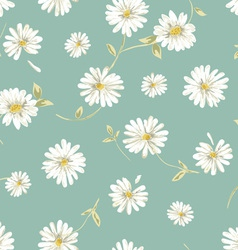 Pretty daisy seamless background vector