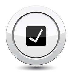 Button with ok sign vector