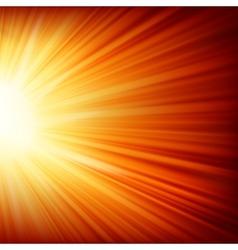 Stars descending on a path of golden light eps 10 vector