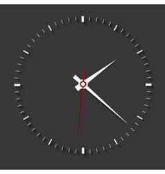 Clock symbol on dark backgroundclean vector
