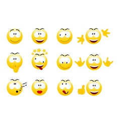 Smiley faces vector