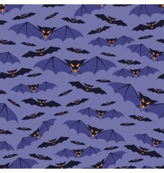 Halloween seamless pattern with bats vector