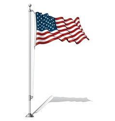 Flag pole usa vector