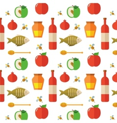 Seamless pattern for jewish new year holiday rosh vector