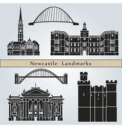 Newcastle landmarks and monuments vector