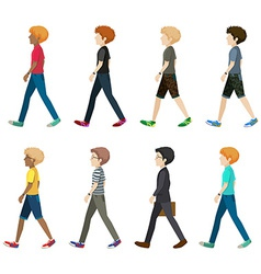 A group of faceless people vector