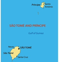 Democratic republic of sao tome and principe - map vector