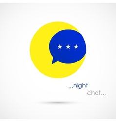 Night chat bubble vector