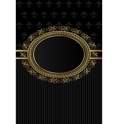 Luxury vintage frame for design packing - vector