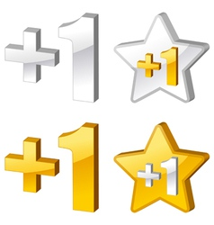 Rating icons 3d vector