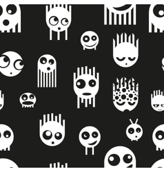 Cute ghost monsters seamless pattern vector