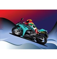 Motorbike racing vector