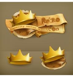 Golden crown icon vector