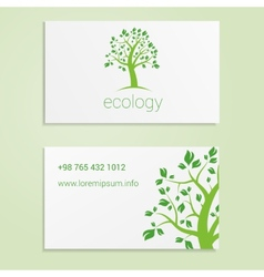 Ecological or eco energy company business card vector