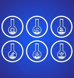 Biology icons vector