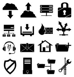 Web hosting icons set vector
