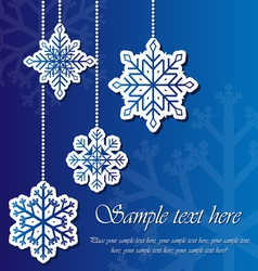 Snowflake sticker background vector