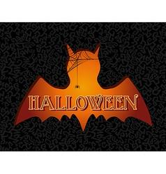 Happy halloween text spooky vampire eps10 file vector