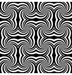 Design seamless monochrome whirl rotation pattern vector