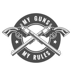 Two guns vector