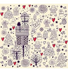 Hand doodle christmas elements vector