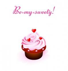 Sweet valentine card vector