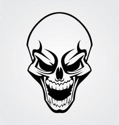 Black skull tribal vector