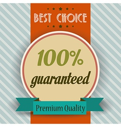 Retro of a best choice message vector