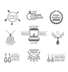 Jewelry label set vector