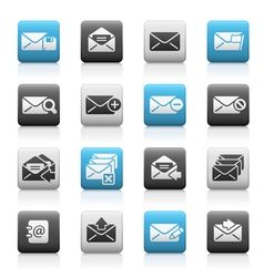 E-mail icons matte series vector