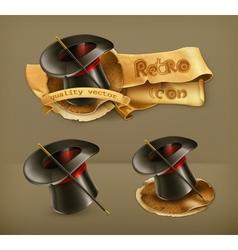 Magic cylinder hat icon vector