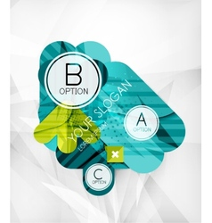 Modern infographic option layout vector