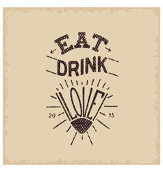 Eat drink love vector
