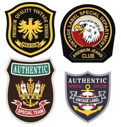 Emblem badge shield vector