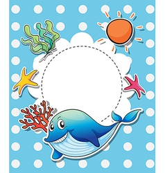 An empty template with sea creatures vector