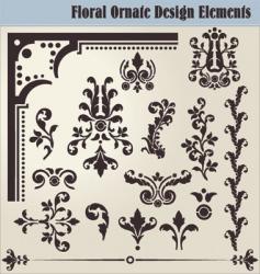 Floral ornate elements vector