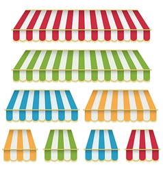 Awning decorations vector