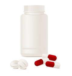 Container pills vector