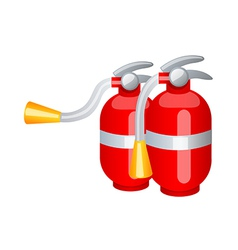 Icon fire extinguisher vector
