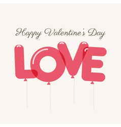 Valentines day love balloons vector
