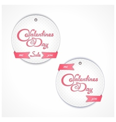 Holiday sales on valentines day vector