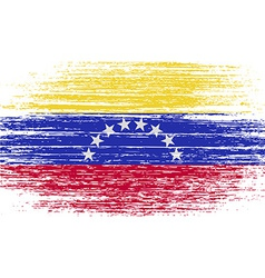 Flag of venezuela with old texture vector