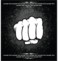 Fist background vector