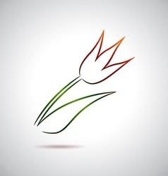 Tulip drawing vector