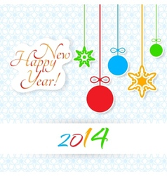 Happy new year lettering greeting card vector
